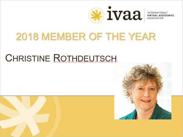 2018 Member of the Year Award Winner - Christine Rothdeutsch
